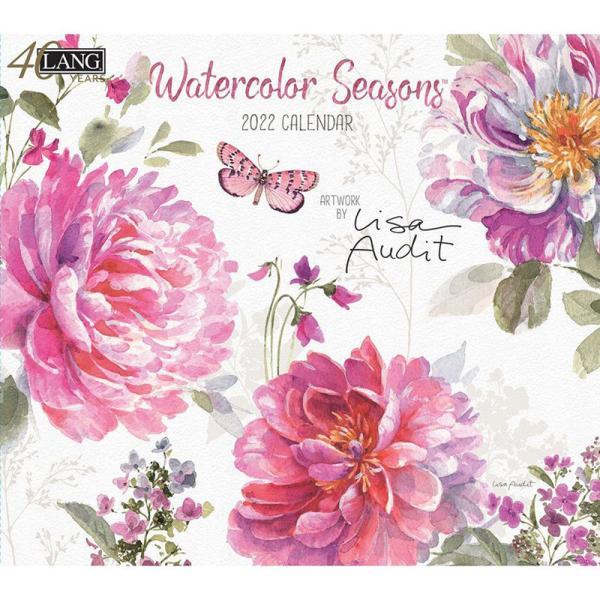 2022年LANGラングカレンダー Watercolor Seasons【2021年8月入荷予定】