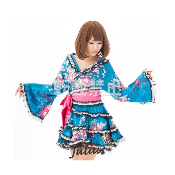 bdda4f6dedce2 Cute お姫様みたいな 花魁系 着物ドレス ワンピース qc55 江戸 花魁道中 浴衣 祭り