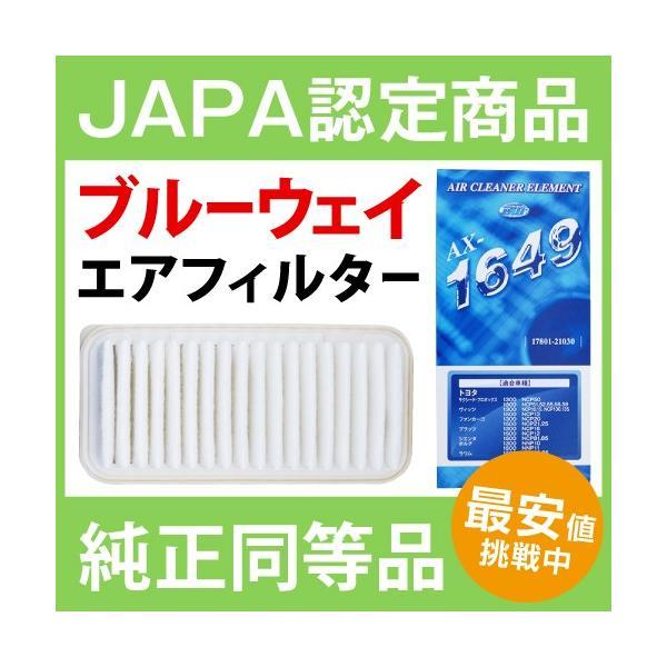 エアーフィルター ホンダ ライフ 660 JB1.JB2 BlueWay AX-5644 エアーエレメント