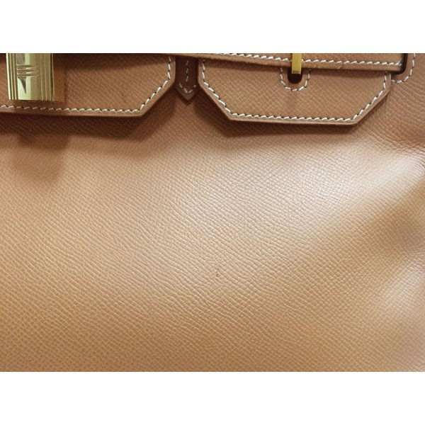 エルメス オータクロア 32 ハンドバッグ クシュベル ナチュラル ゴールド金具 ○Z刻印