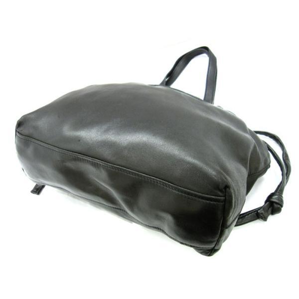 プラダ ハンドバッグ ナッパレザー×シルバー金具 ブラック(黒)