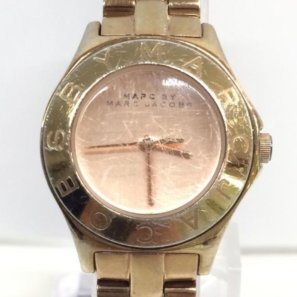 【中古】マークバイマークジェイコブス レディース腕時計 MBM3132 クオーツ GP/SS[jggW]