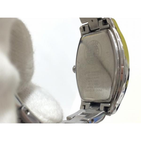 【中古】シチズン ウィッカ エコドライブ レディース腕時計 E031-S085667 ソーラー シルバー SS[jggW]
