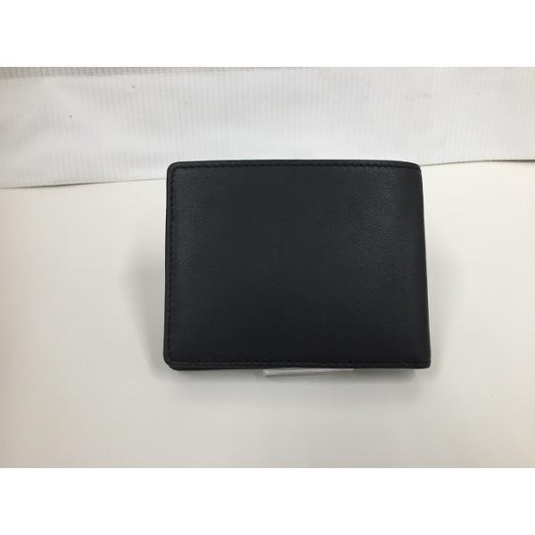 【中古】ディーゼル 二つ折りコンパクト札入れ レザー ブラック[jggZ]