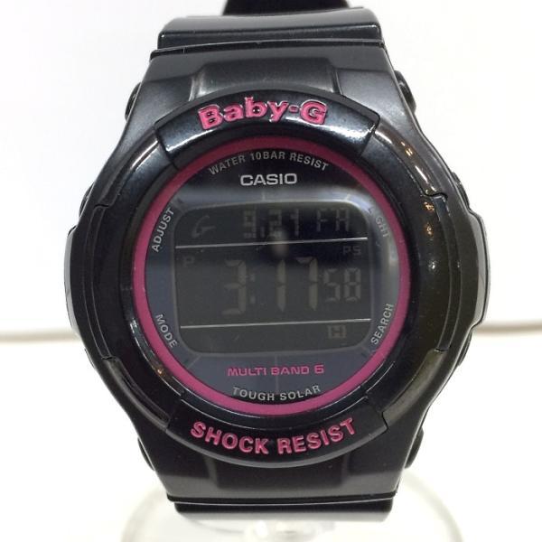 7f84d74eb0 【中古】カシオ ベビージー レディース腕時計 トリッパー BGD-1310 電波ソーラー デジタル ブラック/ ...