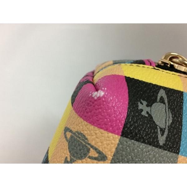 【中古】ヴィヴィアンウエストウッド 化粧ポーチ ロゴマニア マルチカラー PVC[jggZ]