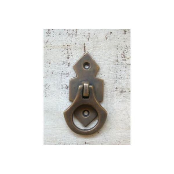 真鍮 ツマミ 取っ手 ハンドル 引き出し ドア 扉 キャビネット つまみ レトロ アンティーク調 DIY アンティークブラスプル リング2