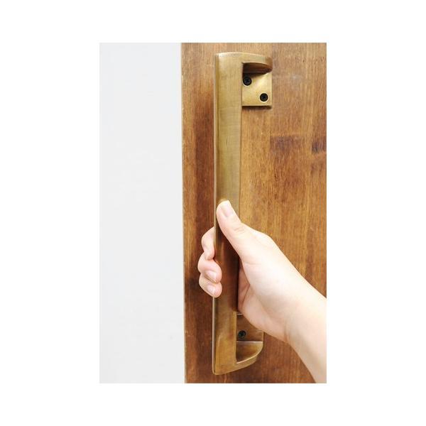 真鍮 ドア ハンドル 取っ手 金具 レトロ 引き出し 扉 つまみ ツマミ アンティーク調 DIY アンティークブラス ドアハンドル F junk-colors