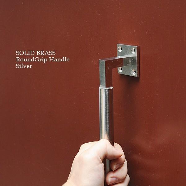 真鍮 取っ手 ハンドル ドアノブ 金具 ドア 扉 つまみ アンティーク調 DIY ソリッドブラス ラウンドグリップ ハンドル SIL