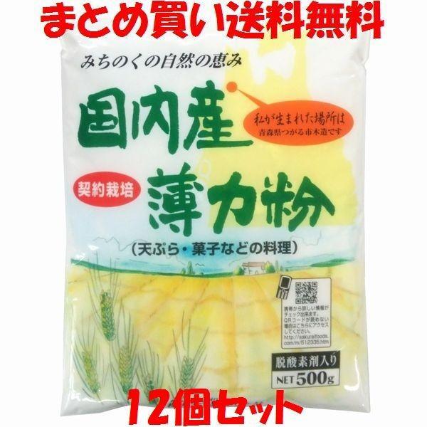薄力粉 桜井 国内産薄力粉 500g×12個セット まとめ買い送料無料