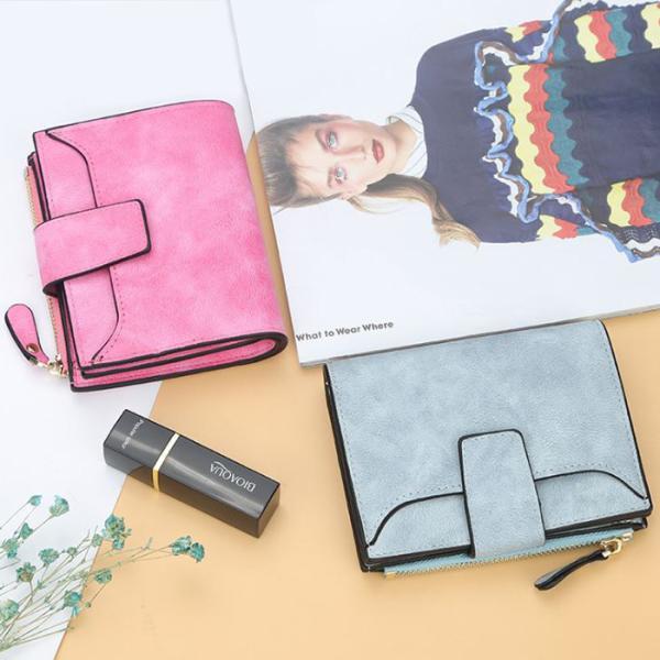 財布二つ折りレディースミニ財布ウォレット小銭入れピンクグレープレゼント