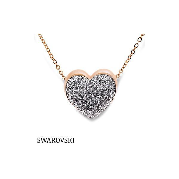 スワロフスキー 5181453 ハート ピンクゴールド ネックレス Swarovski SWAROVSKI|juraice
