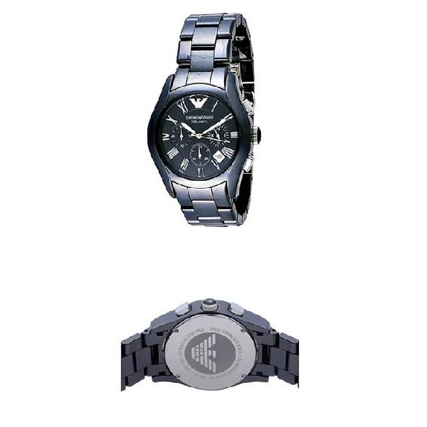 エンポリオ・アルマーニ AR1400 スポーツ スクエア クロノグラフ / ネイビー メンズ  腕時計|juraice|02