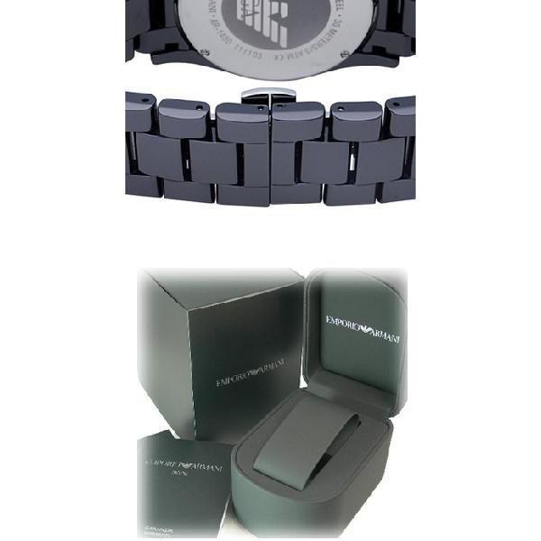 エンポリオ・アルマーニ AR1400 スポーツ スクエア クロノグラフ / ネイビー メンズ  腕時計|juraice|03