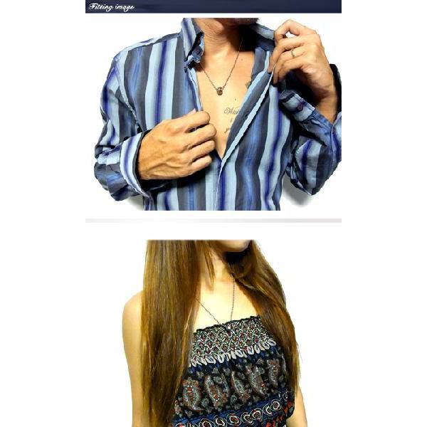 ネックレス メンズ チェーン レディース ステンレス ペンダント ブラック シェル リング ペア ju8 年度末 sale|juraice|03