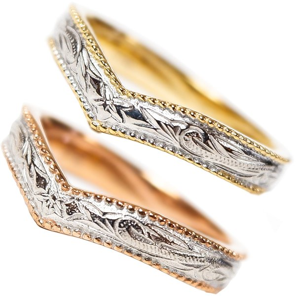 ハワイアンジュエリー リング レディース メンズ 指輪 イエローゴールド ピンクゴールド 誕生日 プレゼント