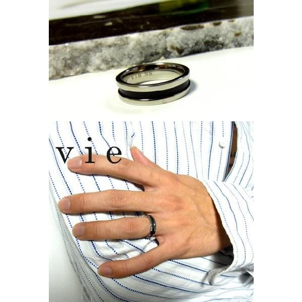 【vie】ブラックステンレスリング/ヴィー/ギフト/メンズ sale|juraice|03