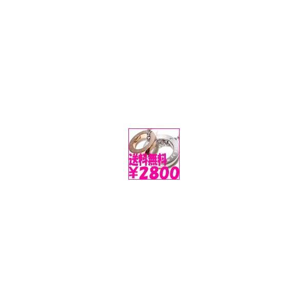 ネックレス 送料無料 CZ 2リング ピンクゴールド レディース ペンダント ステンレス ブランド S-GROWN 年度末 sale|juraice|04