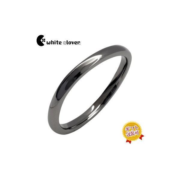 送料無料 カーブデザインシンプルリング/ブラックWSR551RT/white clover/ホワイトクローバー sale|juraice