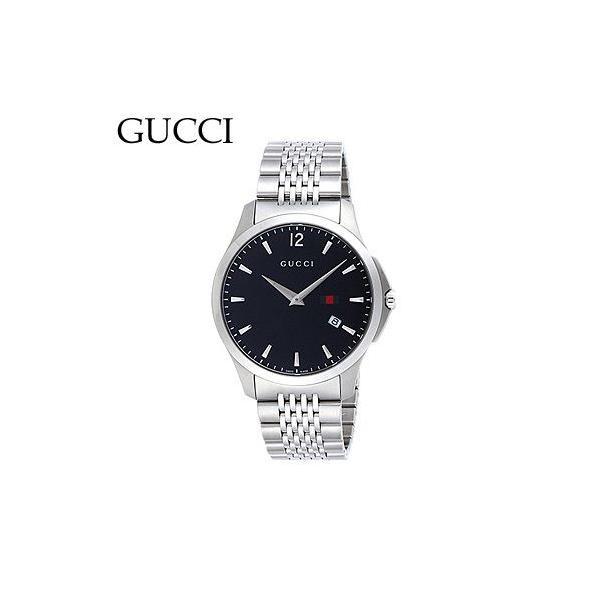 グッチ YA126309 メンズ Gタイムレス スリム デイト ブラック 腕時計 GUCCI|juraice