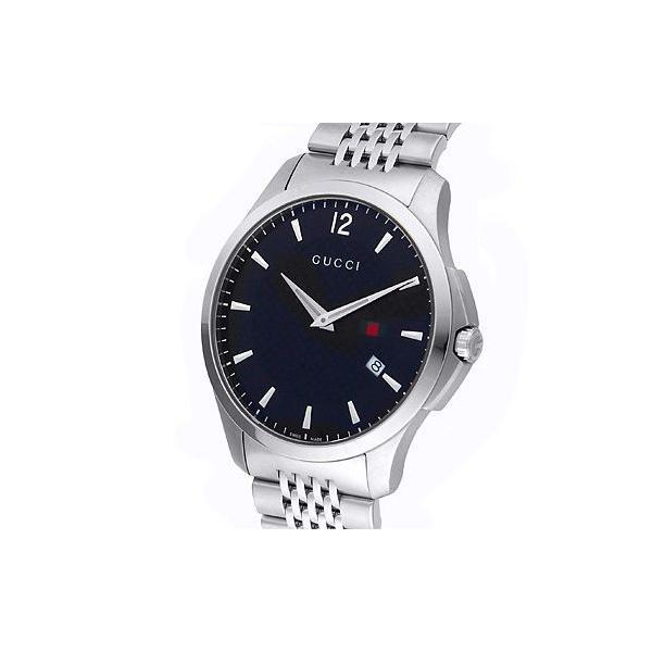 グッチ YA126309 メンズ Gタイムレス スリム デイト ブラック 腕時計 GUCCI|juraice|02