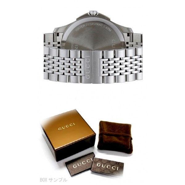 グッチ YA126309 メンズ Gタイムレス スリム デイト ブラック 腕時計 GUCCI|juraice|03