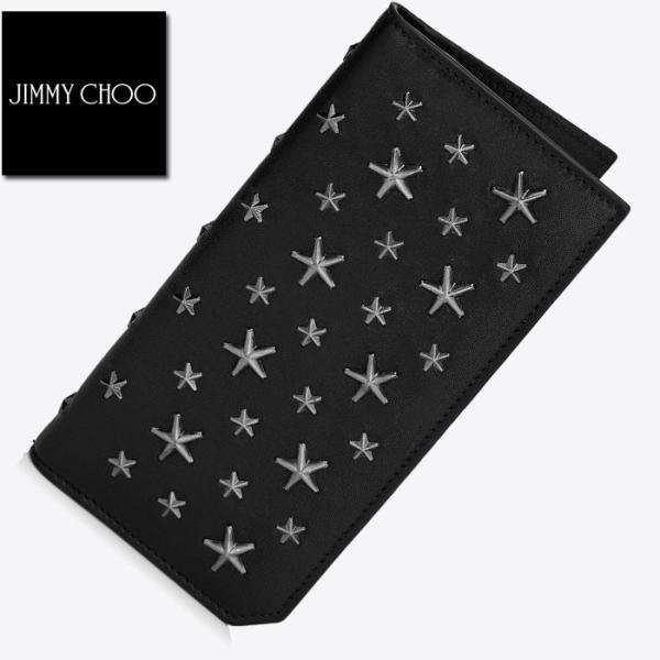 ジミーチュウ Jimmy Choo COOPER ガンメタル 長財布 ブラック|jurer-store