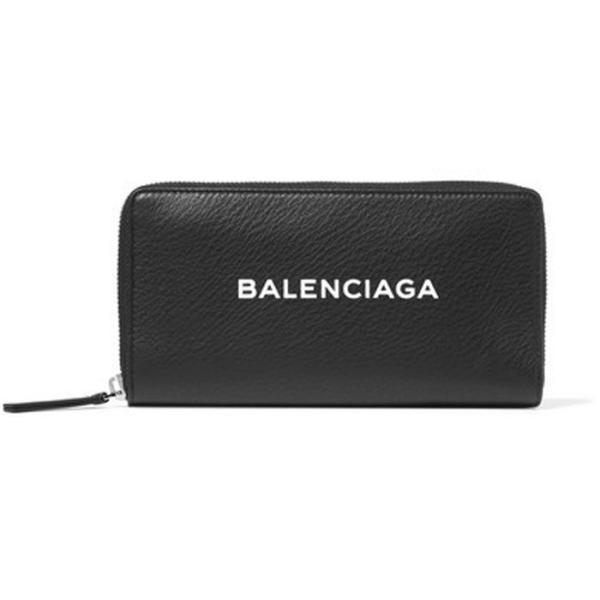バレンシアガ BALENCIAGA ロゴ ラウンドジップ長財布 ブラック/BLACK 490625DLQ0N1000 jurer-store