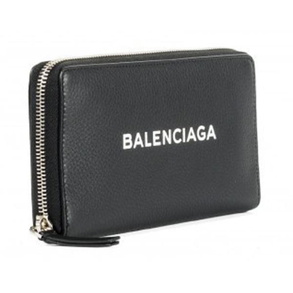 バレンシアガ BALENCIAGA ロゴ ラウンドジップ長財布 ブラック/BLACK 490625DLQ0N1000 jurer-store 02