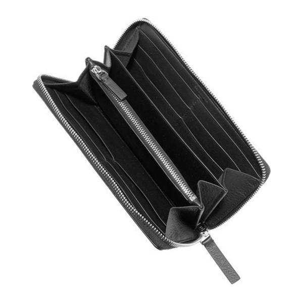 バレンシアガ BALENCIAGA ロゴ ラウンドジップ長財布 ブラック/BLACK 490625DLQ0N1000 jurer-store 06