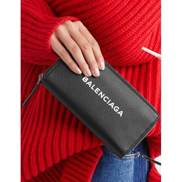 バレンシアガ BALENCIAGA ロゴ ラウンドジップ長財布 ブラック/BLACK 490625DLQ0N1000 jurer-store 07