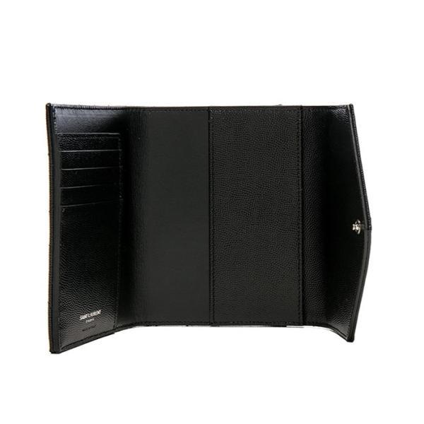サンローラン モノグラム パスポート&カードケース SAINT LAURENT 466782BOWE21000  ブラック/BLACK|jurer-store|04