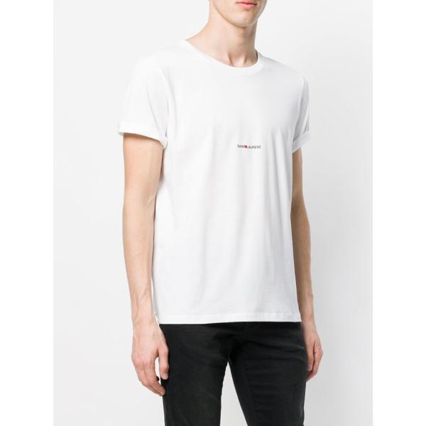 サンローラン ロゴ 半袖Tシャツ 464572 YB2DQ ブラック ホワイト|jurer-store|02