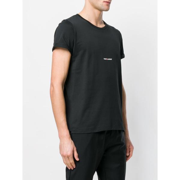 サンローラン ロゴ 半袖Tシャツ 464572 YB2DQ ブラック ホワイト|jurer-store|05