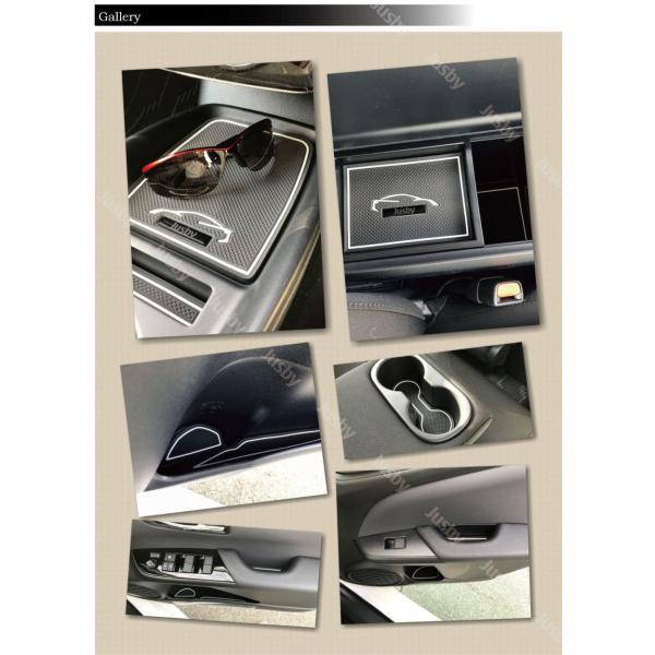トヨタ 50系 プリウス(後期)専用 インテリアラバーマット 白or青 ゴムマット ドアポケットマット フロアマット 50系(ZVW50/51/55)|jusby-auto|07
