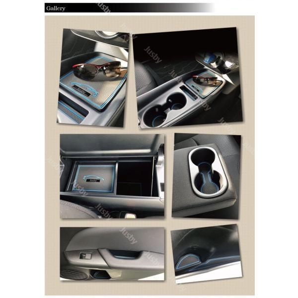 トヨタ 50系 プリウス(後期)専用 インテリアラバーマット 白or青 ゴムマット ドアポケットマット フロアマット 50系(ZVW50/51/55)|jusby-auto|08