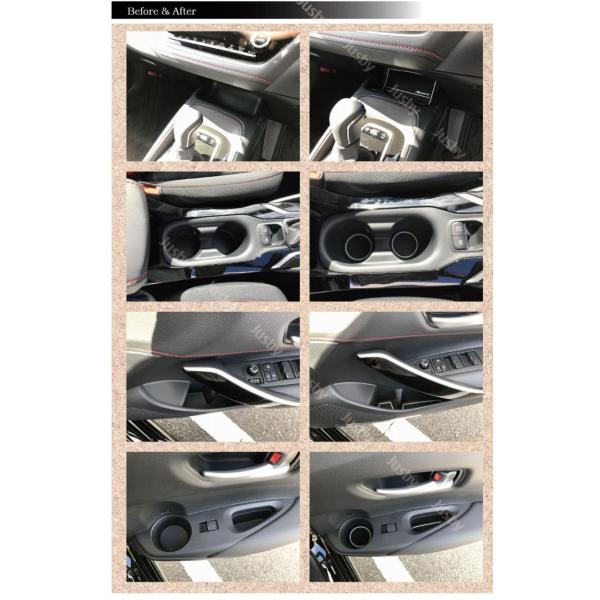 新型カローラスポーツ/ツーリング/セダン 専用 インテリアラバーマットVer2 白or赤 ドアポケットマット 保護&ドレスアップ アクセサリーパーツ  jusby|jusby-auto|07