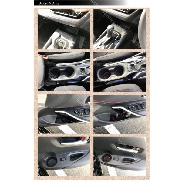 新型カローラスポーツ/ツーリング/セダン 専用 インテリアラバーマットVer2 白or赤 ドアポケットマット 保護&ドレスアップ アクセサリーパーツ  jusby|jusby-auto|08