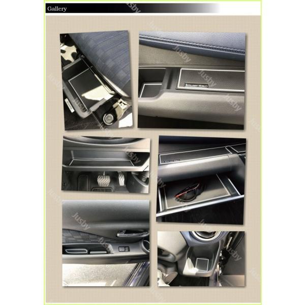 新型デイズ(DAYZ)&eKワゴン/eKクロス(ホワイト/ブラウン/ブルー) インテリアラバーマット ドアポケットマット 日産 三菱 フロアマット パーツアクセサリー jusby-auto 04