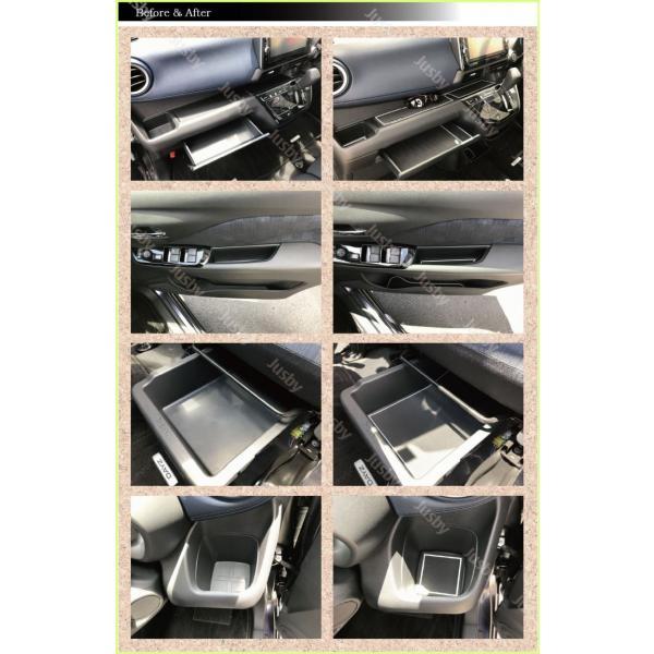 新型デイズ(DAYZ)&eKワゴン/eKクロス(ホワイト/ブラウン/ブルー) インテリアラバーマット ドアポケットマット 日産 三菱 フロアマット パーツアクセサリー jusby-auto 05