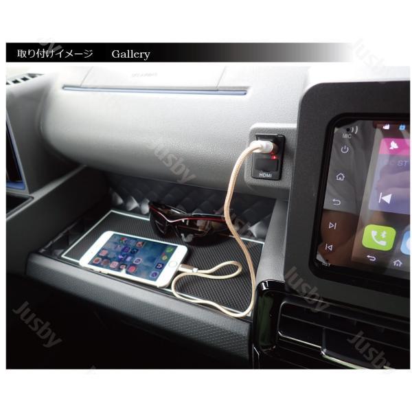 ダイハツ 新型タント&タントカスタム(LA650S/LA660S)専用 USB/HDMIアダプターKIT カーナビとの接続をスマートに iPod対応USB入力端子 ミラーリング HML等と|jusby-auto|04