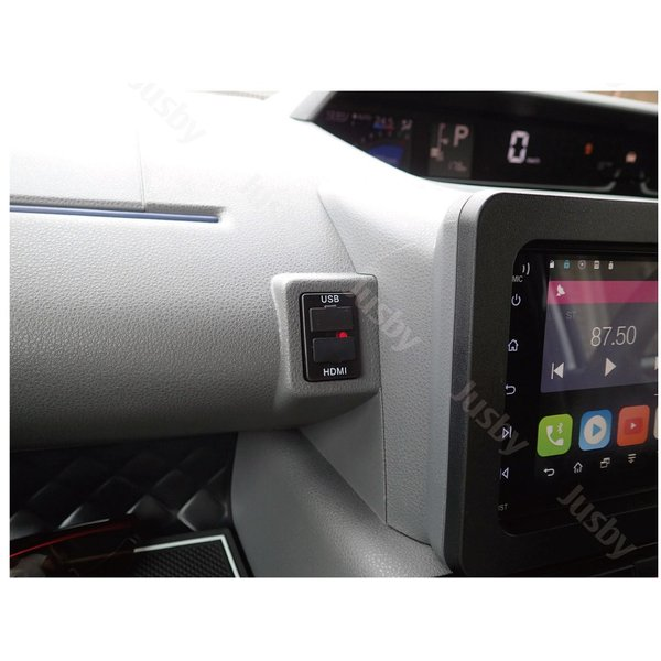 ダイハツ 新型タント&タントカスタム(LA650S/LA660S)専用 USB/HDMIアダプターKIT カーナビとの接続をスマートに iPod対応USB入力端子 ミラーリング HML等と|jusby-auto|05