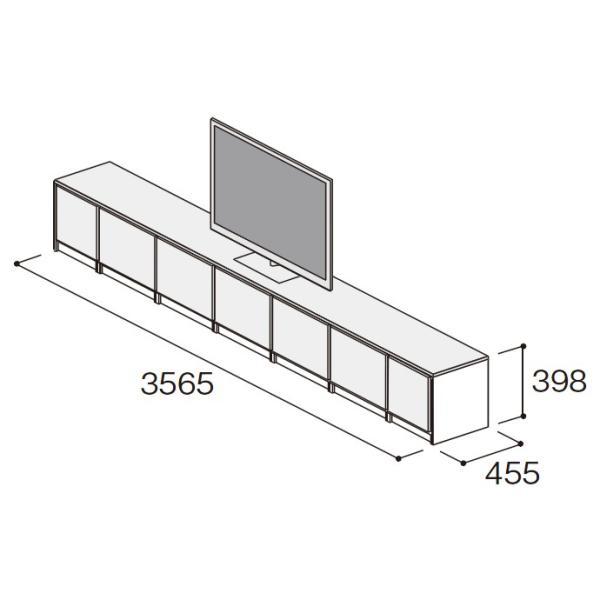 壁面収納 パナソニック キュビオス 幅3,565mm 奥行450mm LV-53T リビング収納 収納 jusetsuhills 06