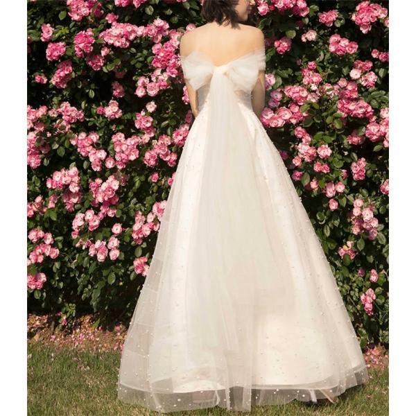 プリンセス ウエディングドレス 二次会 花嫁ドレス 花嫁 結婚式 ドレス リボン結び ウェディングドレス パーティードレス イブニングドレス フォーマルドレス|just-for-you|06