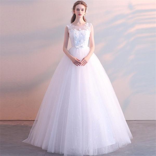 エンパイアライン ウエディングドレス 二次会 花嫁ドレス 花嫁 結婚式 ドレス ベアトップ ウェディングドレス パーティードレス フォーマルドレス|just-for-you