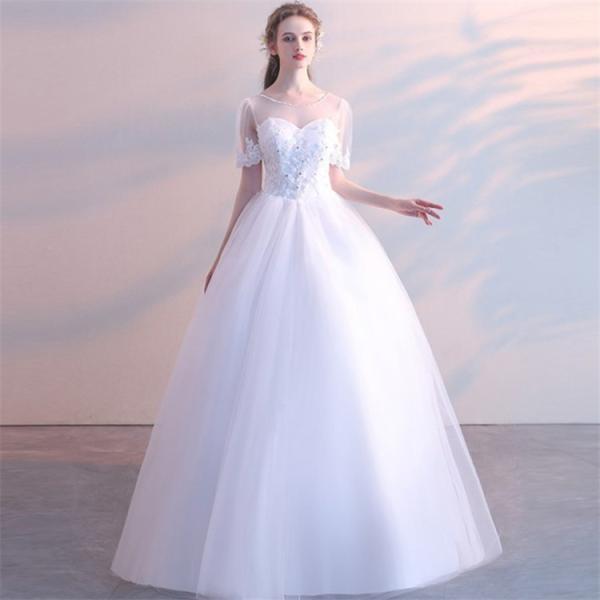 エンパイアライン ウエディングドレス 二次会 花嫁ドレス 花嫁 結婚式 ドレス ベアトップ ウェディングドレス パーティードレス フォーマルドレス|just-for-you|09