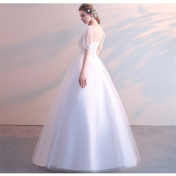 エンパイアライン ウエディングドレス 二次会 花嫁ドレス 花嫁 結婚式 ドレス ベアトップ ウェディングドレス パーティードレス フォーマルドレス|just-for-you|10