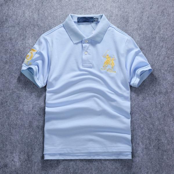 ポロシャツ メンズ 無地 刺繍入り 綿100% 柔らかい カラフル 16色展開 ゴルフウェア カジュアル 夏新作|justmode|13
