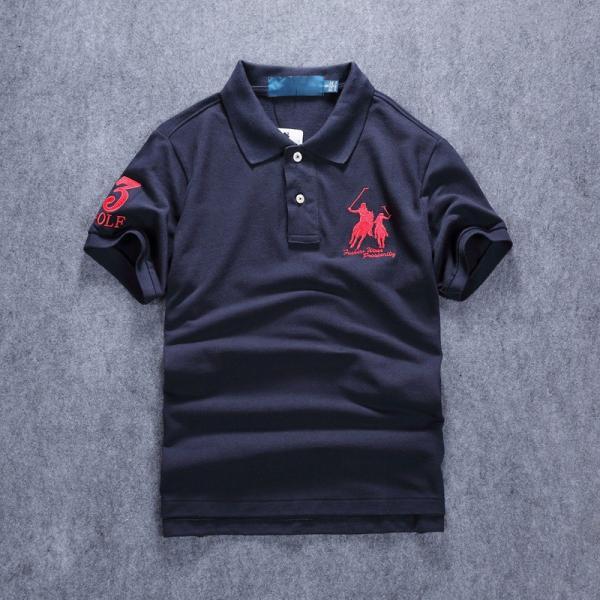 ポロシャツ メンズ 無地 刺繍入り 綿100% 柔らかい カラフル 16色展開 ゴルフウェア カジュアル 夏新作|justmode|18