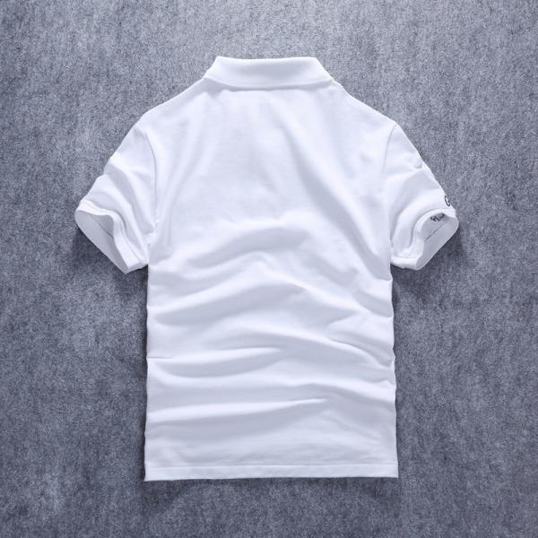 ポロシャツ メンズ 無地 刺繍入り 綿100% 柔らかい カラフル 16色展開 ゴルフウェア カジュアル 夏新作|justmode|20